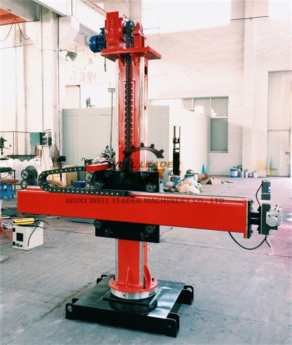 Small Pipeline Welding Manipulator Column And Boom 360 Degree Lockable Rotation