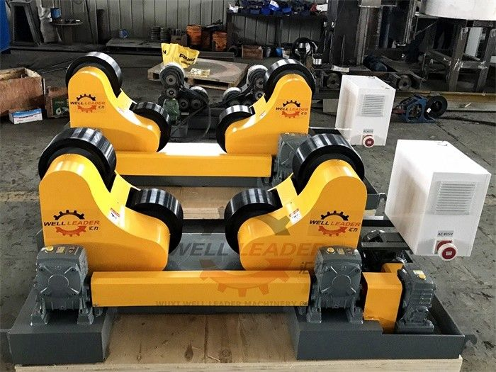 10 Ton Driving Inverter Control Pipe Rotators For Welding , Long Life Time
