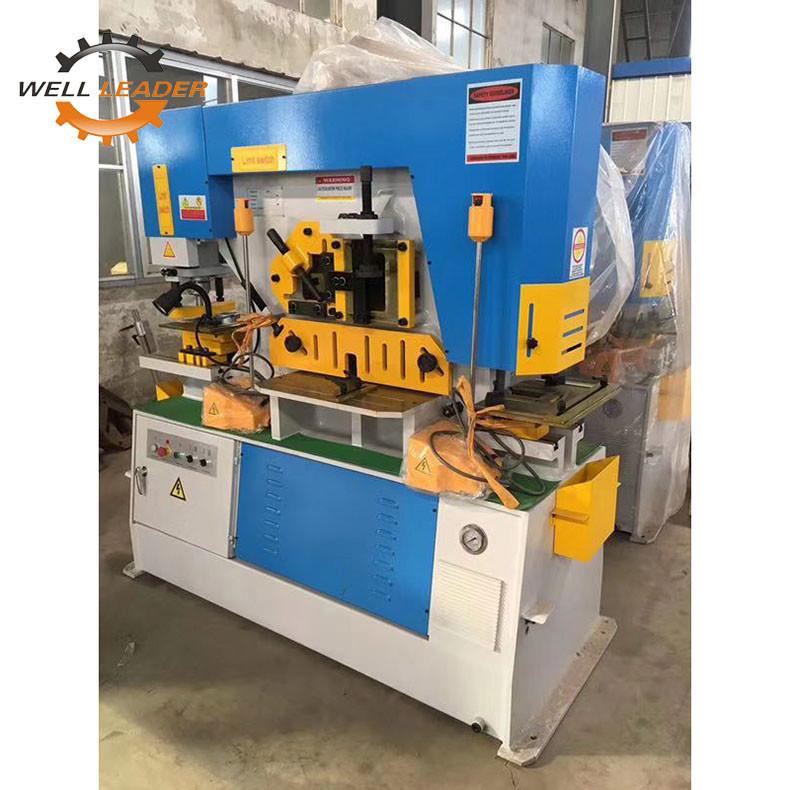 Touch Screen Control System Hydraulic Ironworker Machine 7 Deg Shear Angle
